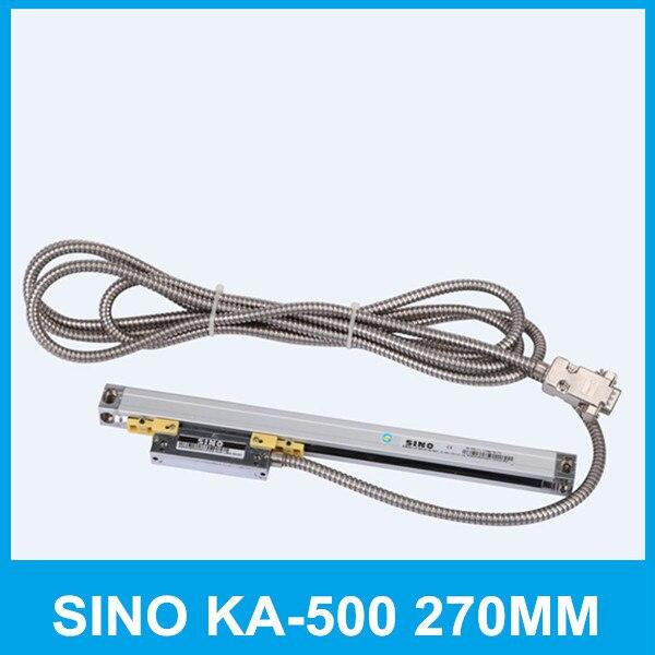 Envío Gratis SINO KA-500 270mm 5um lectura digital KA500 0.005mm 270mm escala lineal de vidrio para chispa del CNC de la máquina de torno