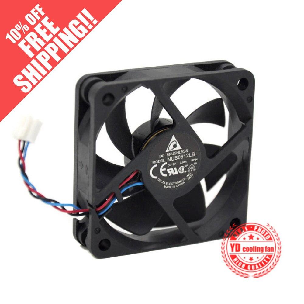 Новый вентилятор охлаждения DELTA NUB0612LB 6015 12В 0.08A 6 см