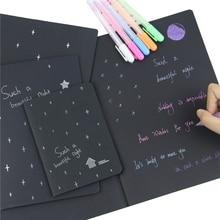 1 carnet journal noir papier bloc-notes 16K 32K 56K croquis Graffiti cahier pour dessin peinture bureau école papeterie cadeaux