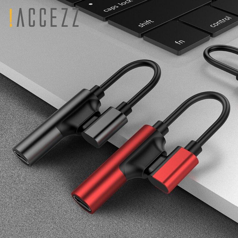 ¡! ACCEZZ 2 en 1 doble de carga de iluminación escuchando adaptador para Iphone XR XS MAX 8 7 Plus de Audio para auriculares llamando a Jack divisor auxiliar