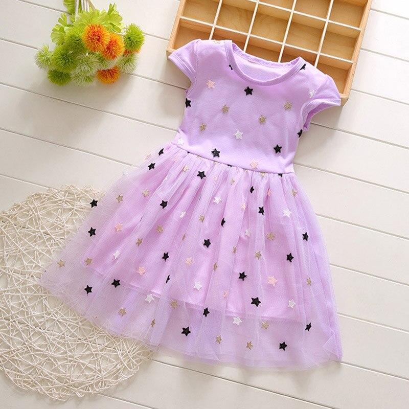 BFORTUNE nuevo vestido para niñas marca de verano vestido de princesa ropa para Niñas Ropa para niñas pequeñas Ropa para Niñas estrellas Vestidos infantiles