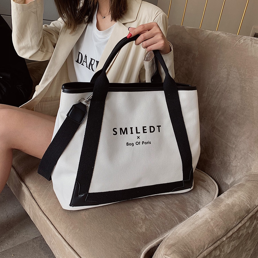 New Fashion Canvas Women Handbags Large Capacity Ladies Shoulder Crossbody Bag Famous Designer Casual Female Tote Messenger Bags