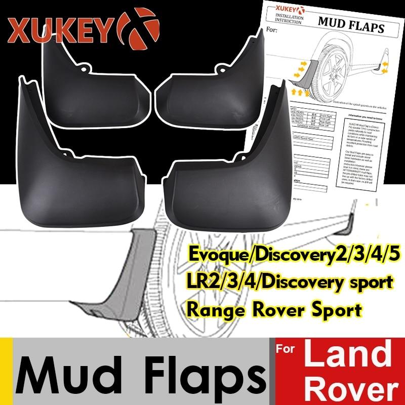 Guardabarros Xukey para Land Range Rover Evoque Freelander 2 LR2 Discovery 3 4 5 LR3 LR4, guardabarros deportivos