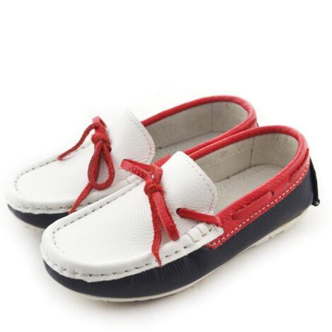 أحذية ربيعية/خريفية غير رسمية للأطفال ، أحذية موكاسين ، أزياء ، أحذية مسطحة ، جلد طبيعي ، للأطفال ، 04