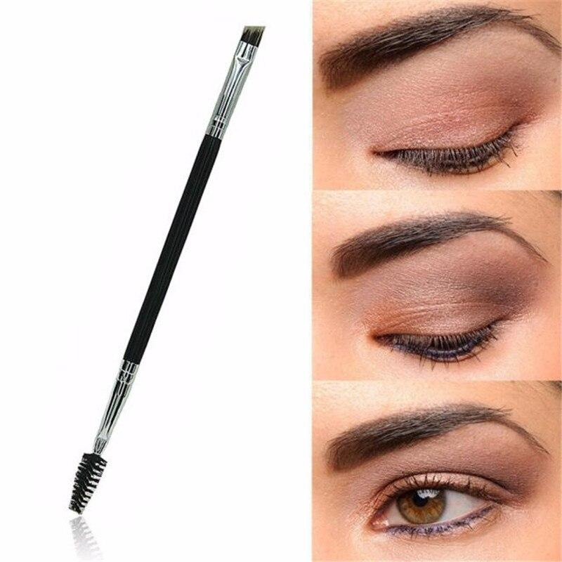 Escova de sobrancelha maquiagem de bambu alça dupla sobrancelha pente profissional pinceaux maquillage alta qualidade pinceaux maquillage quente