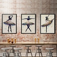 abstract ballerina classic ballet moves canvas paintings modern dancer decoration posters prints home decor for living room wall