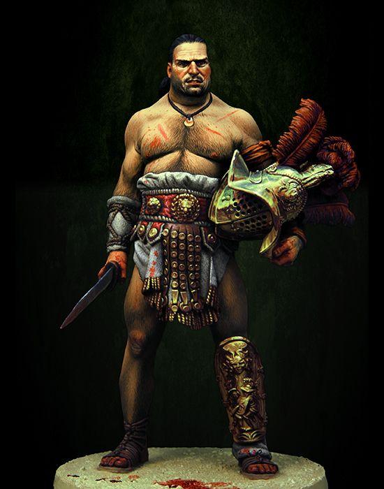 1/18 90MM antiguo heroico gladiador romano hombre figura de resina en miniatura kits miniatura gk Unassembly sin pintar