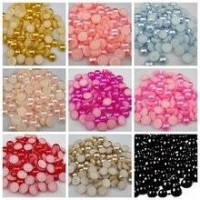 Perles en résine demi-rondes 6mm   Pièces/lot, taille 6mm, pour décorer des arts des ongles plats, livraison gratuite, bricolage, 144 pièces