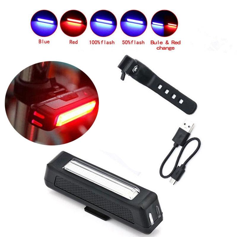 Luz trasera de bicicleta recargable por USB, luz LED cometa para bicicleta, luz trasera, luz trasera de bicicleta, advertencia de seguridad