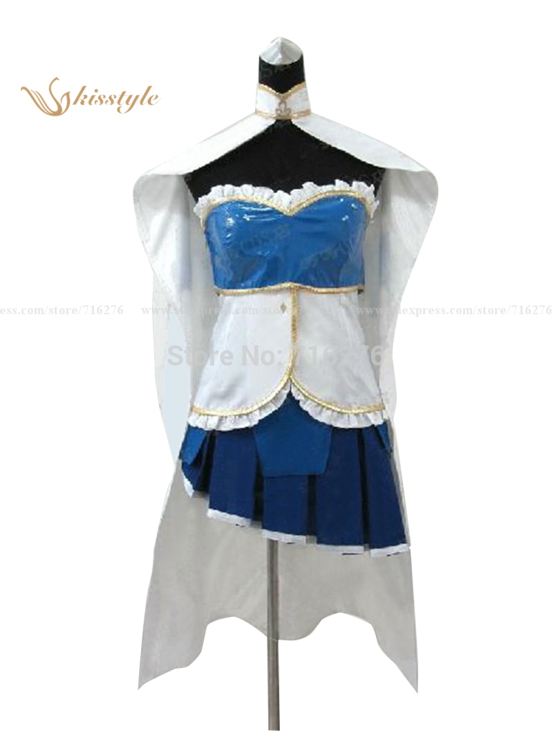 New Cheap Cosplay Costume Wholesale/Retail Puella Magi Madoka Magica Miki Sayaka Party Dress Lolita