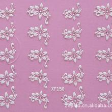 3D Flower Design Water Transfer Nails Art Sticker Decals Lady Women Manicure Tools Nail Wraps Decals