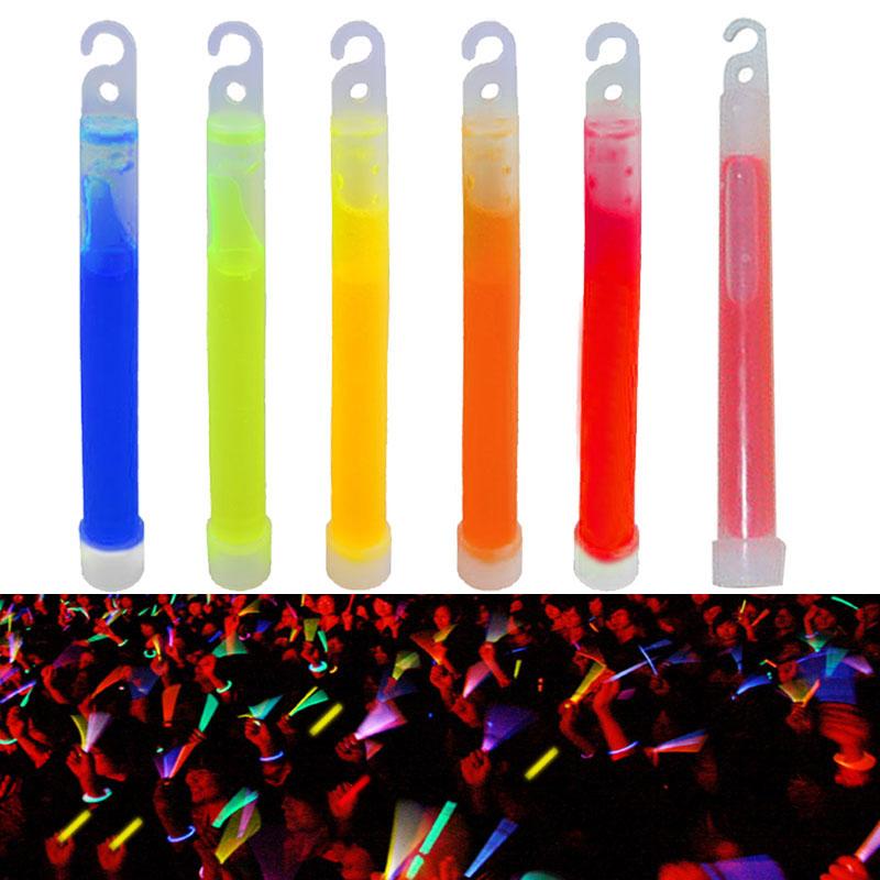 10 pçs 6 polegada de grau industrial brilho varas luz vara festa acampamento luzes emergência glowstick fluorescente química ls