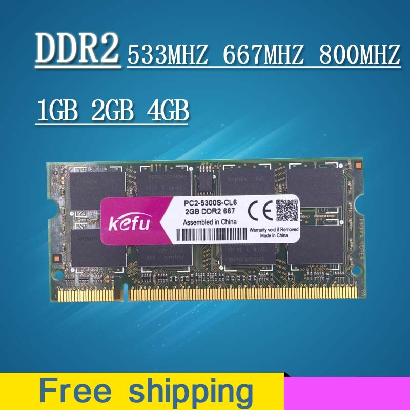 Sale 1gb 2gb 4gb DDR2 667 800 533 667mhz 800mhz PC2-5300 PC2-6400 sodimm so-dimm sdram Memory Ram Memoria For Laptop Notebook