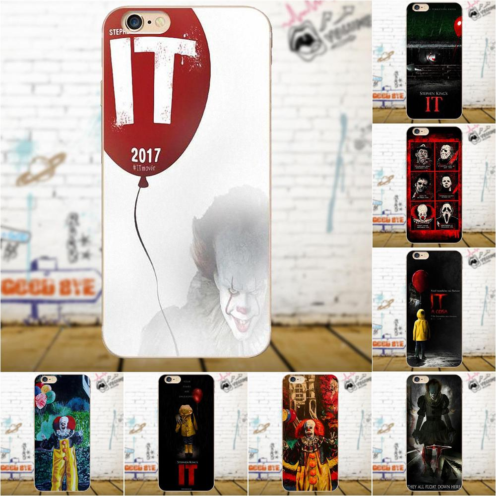 Stephen King es el payaso Pennywise Horror para Apple iPhone 4 4S 5 5C 5S SE 6 6S 7 8 Plus X para LG G4 G5 G6 K4 K7 K8 K10