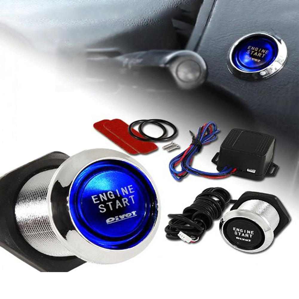 Car Engine Push Start Button RFID Engine Lock Ignition Keyless Entry System Go Push Button Engine St