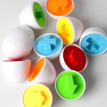 6 pièces/ensemble apprentissage jouets éducatifs 3D forme mixte sage semblant oeuf Puzzle bébé enfants apprentissage outil jouets pour enfants