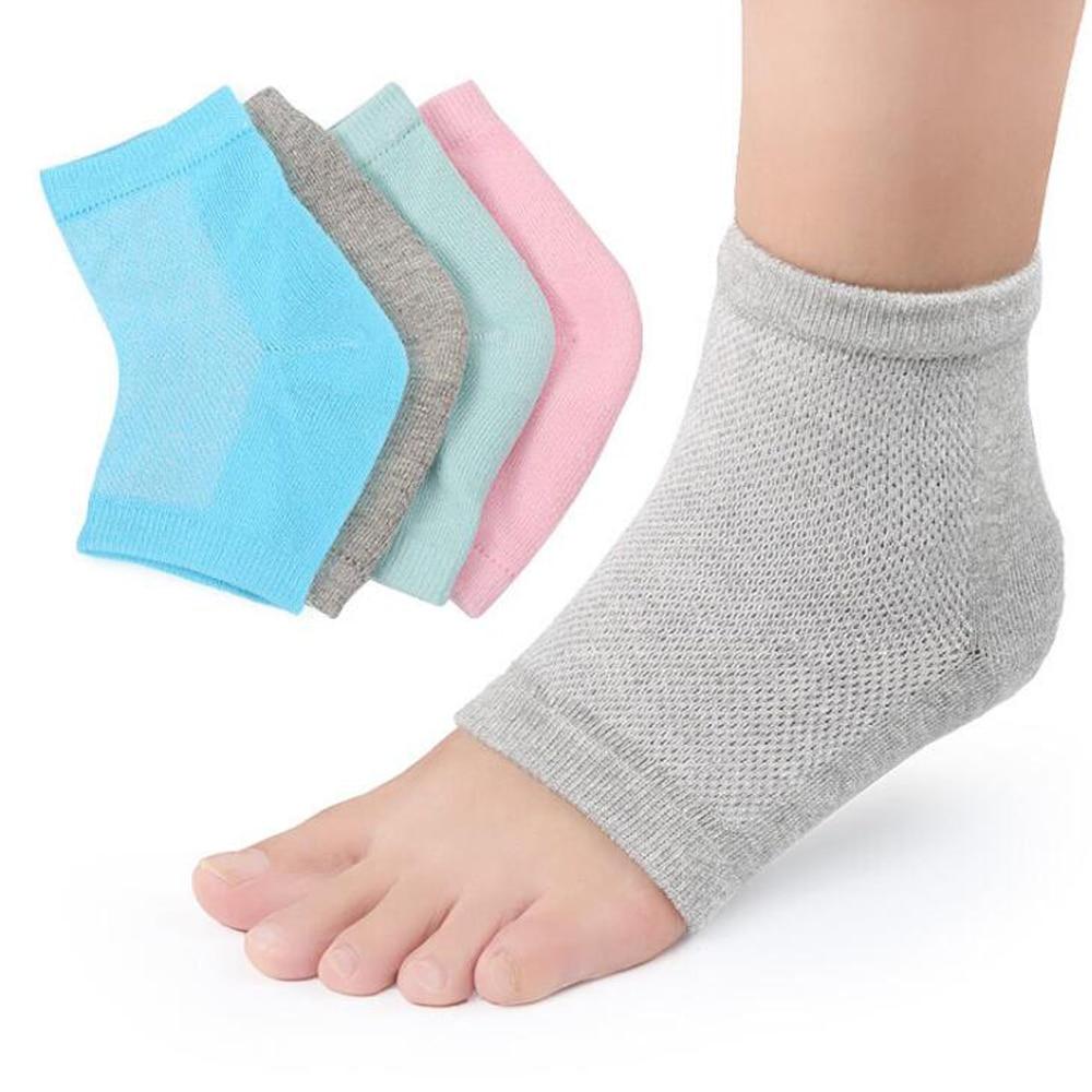 New arriver feet care socks 1pair New Silicone Moisturizing Gel Heel Socks Cracked Foot Skin Care Protectors anti cracking