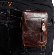 MVA véritable cuir taille sac hommes Fanny Pack ceinture sac mâle voyage téléphone pochette sacs hommes portefeuille taille Pack Bum sac homme sac à main Bolso