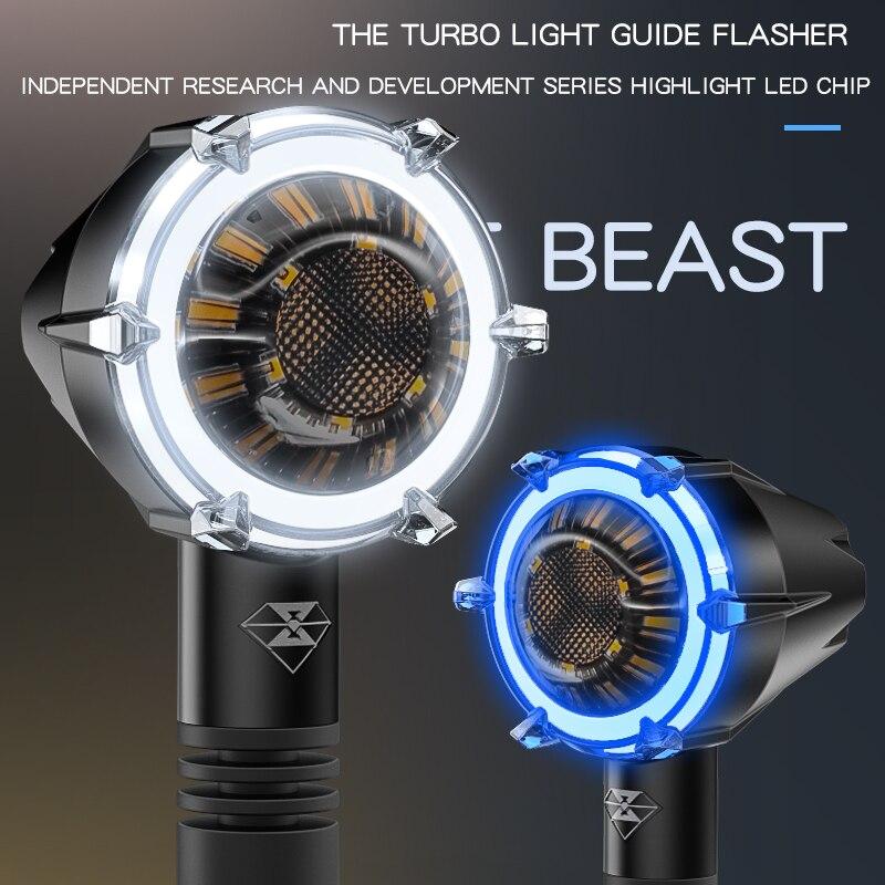 مصباح إشارة الانعطاف للدراجات النارية LED بتصميم عتيق لسيارات بي إم دبليو وسوزوكي وكاواساكي وهوندا CB1000R سم 500 CB1100 مصباح خلفي عالمي
