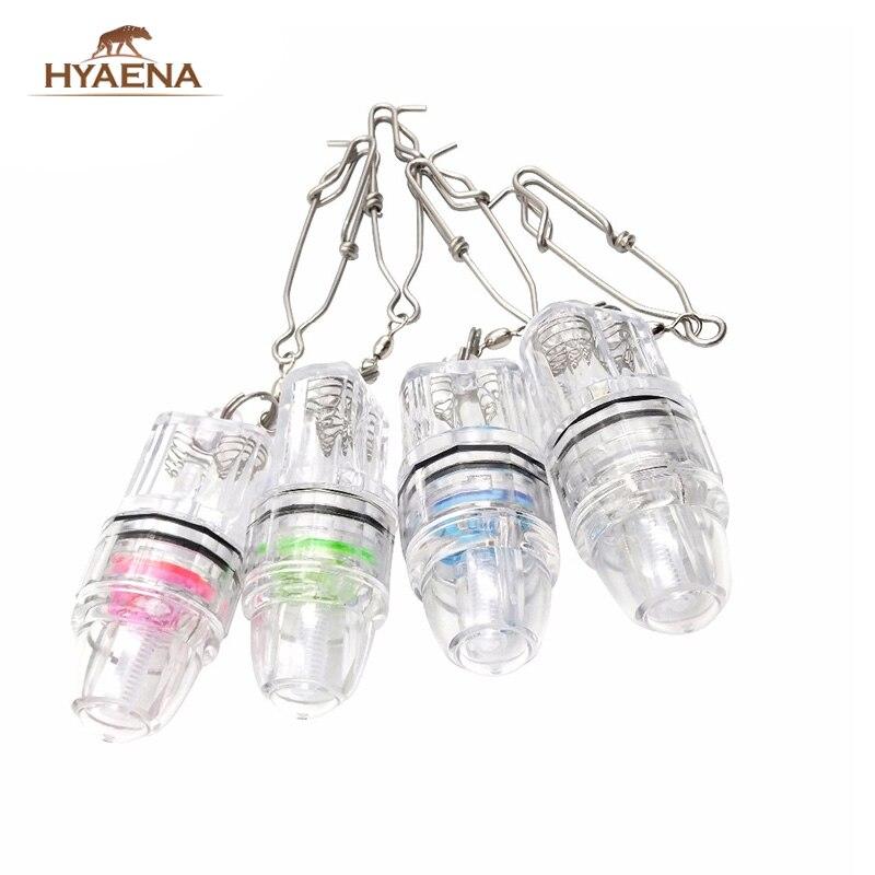 Hyaena, luz LED de pesca de gota profunda, señuelo de peces bajo el agua, barco ligero atractivo, señuelo con luz para pescar en 4 colores
