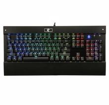 Eagle Z77 RGB Mechanical Keyboard Gaming LED Backlit Blue Switches Clicky 104 Keys Tactile Gamer Keyboard