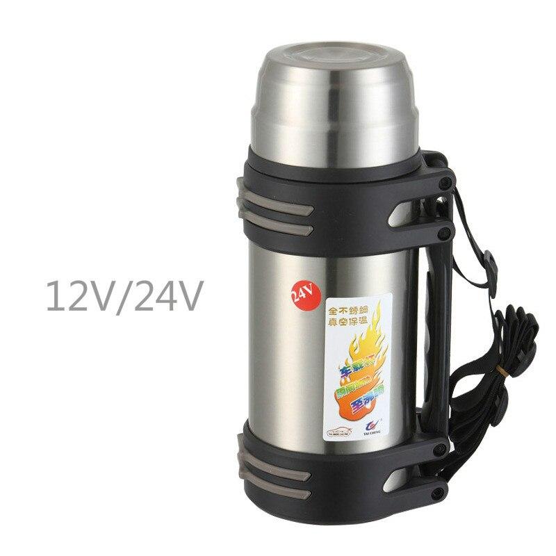 Taza de calefacción eléctrica para vehículo, taza de calefacción de 24V/12V, taza de aislamiento para vehículo, taza de agua, botella de agua eléctrica, calentador de agua