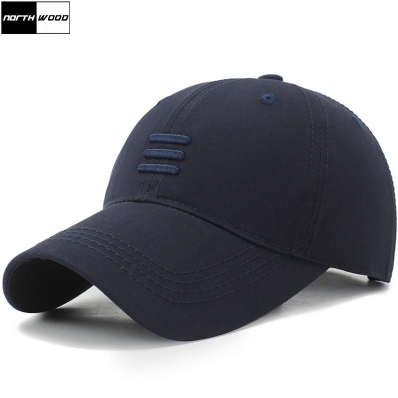 [NORTHWOOD] Mens Brand Baseball Caps Cotton Summer Cap For Women Bone Gorras Black Dad Hats Casquette Snpback