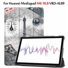 Folio cover case For Huawei Mediapad M6 10.8 Case 2019 / M6 Pro 10.8 VRD-AL09 ultra slim funda cover case