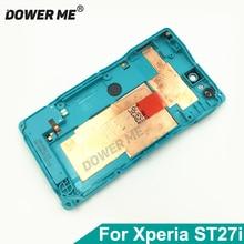 Dower Me 교체 주택 플라스틱 뒤 중앙 구조 뒤 표지 케이스 소니 Xperia 이동 ST27i