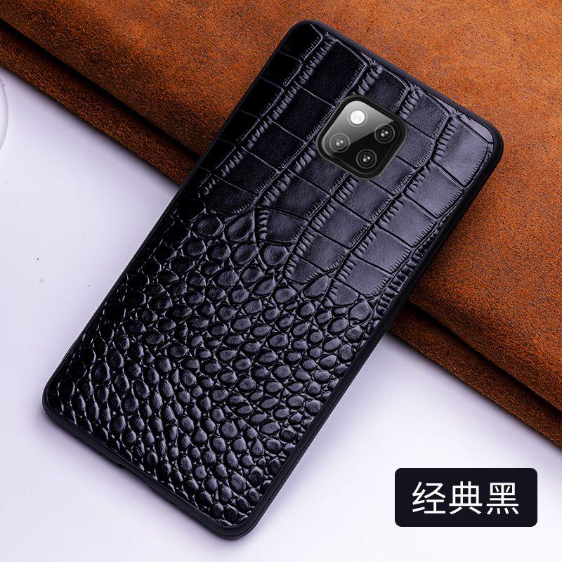 5 cores de luxo genuíno pele vaca couro volta caso do telefone para huawei companheiro 10 20 pro x real crocodilo grão capa