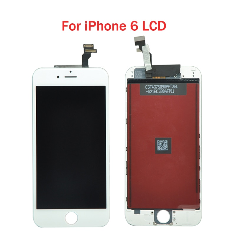 Review 10pcs/lot 4.7 Quality AAA 100% No Dead Pixel For iPhone 6 LCD Display with Touch Screen Digitizer Assembly Free shipping