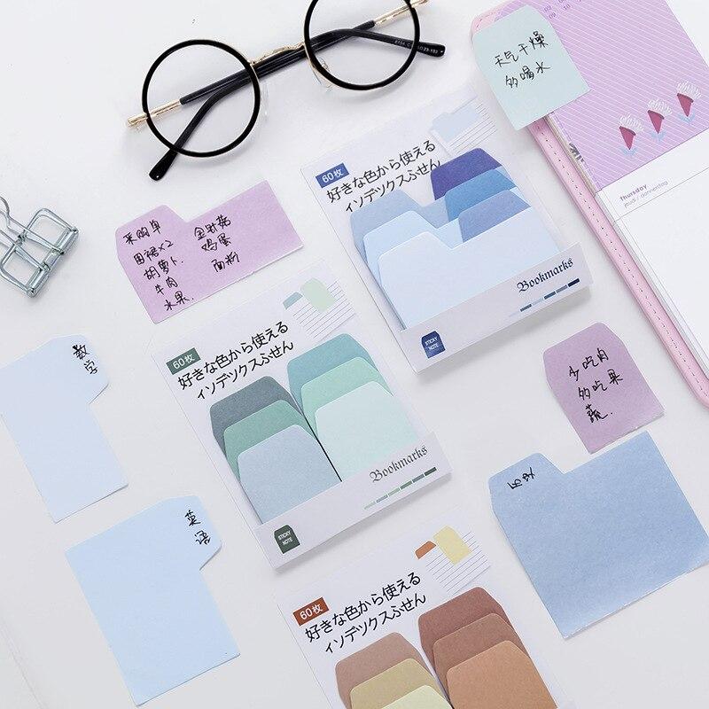 Creativo coreano papelería gradiente de color clasificación mensaje índice pasta Oficina aprendizaje...