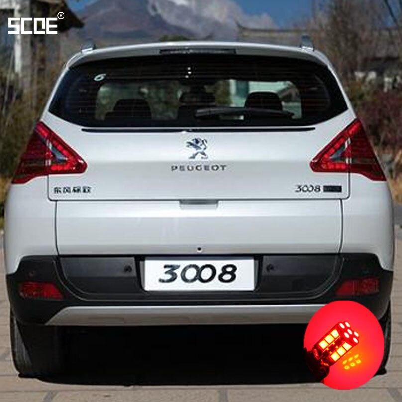 Para Peugeot 3008 SCOE 2015 nueva Alta Calidad 2X 30SMD LED freno/parada/estacionamiento trasero/bombilla trasera/fuente de luz estilo de coche