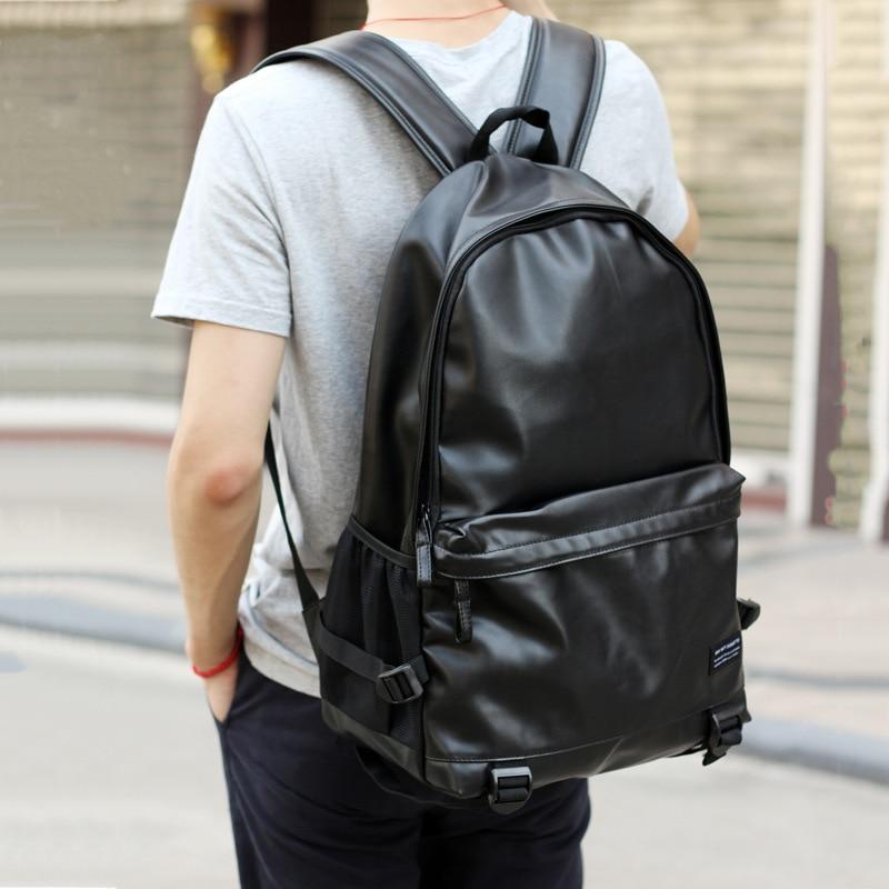 Мужской рюкзак, большой кожаный рюкзак для путешествий, Студенческая школьная сумка для подростков, женский рюкзак для ноутбука известного...