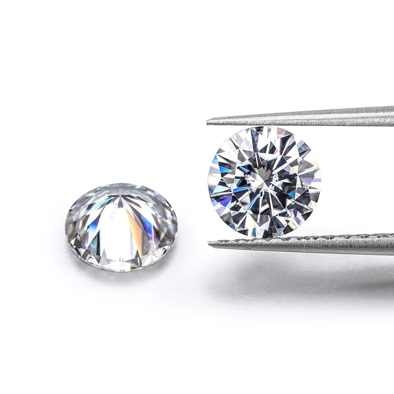 2pcs loose moissanite 0.5 carat 5mm IJ color excellent Brilliant cut clarity VVS1 round shape Moissanite ring material