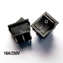 Interrupteur de livraison Large KCD2 KCD4 202 noir   6 pieds 2 fichiers, 16A / 250V