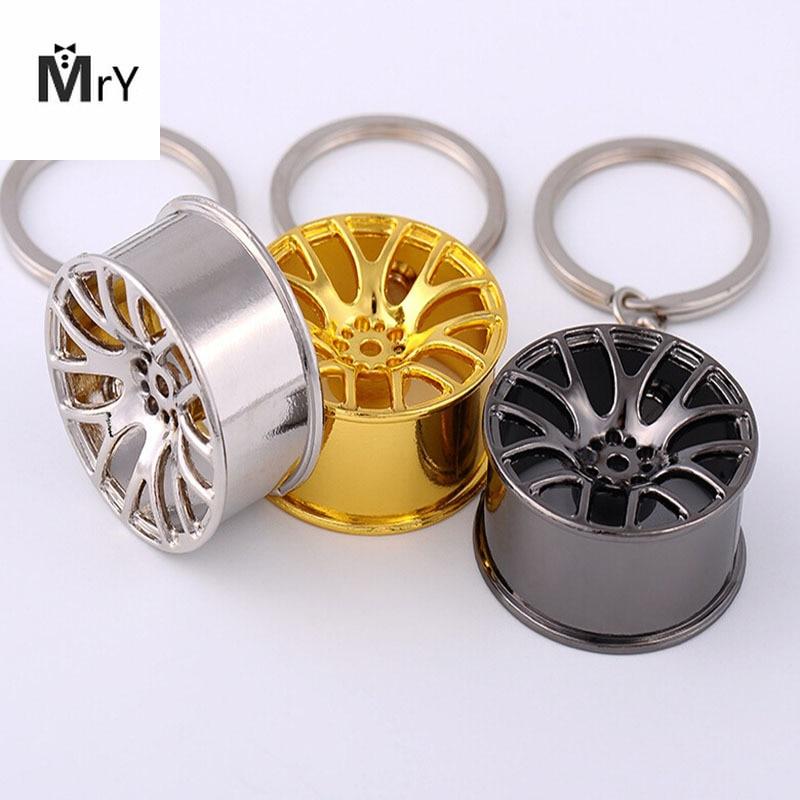 New 2017 Fast And Furious 8 Key Chains High Quality Metal 3D Car Hub Keychain Bag Pendant Jewelry Cool Wheel Rim Keyring Holder