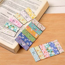6 pièces/ensemble créatif fleurs signets magnétiques Kawaii papier livre marque pour livres étudiants cadeau bureau fournitures scolaires papeterie