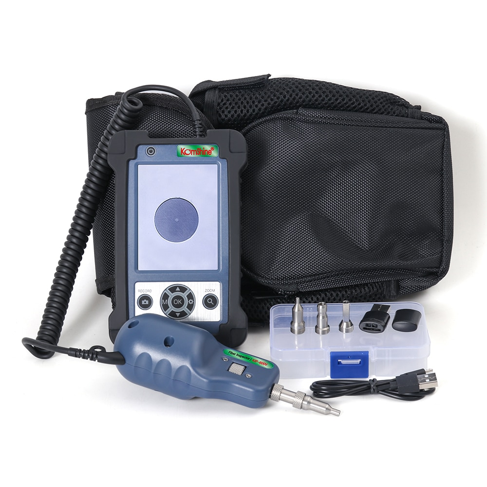 3.5 inch HD LCD display Inspector Komshine KIP-600V Fiber Optic Inspection Probe 400X Magnification, SC-M, 1.25mm LC-F/M tips