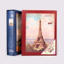 Cadeau pour Album Photo européen classique   Tour Eiffel, Type intercalaire Scrapbook, 6 pouces, cadeau du Festival Photo européen, 200 feuilles