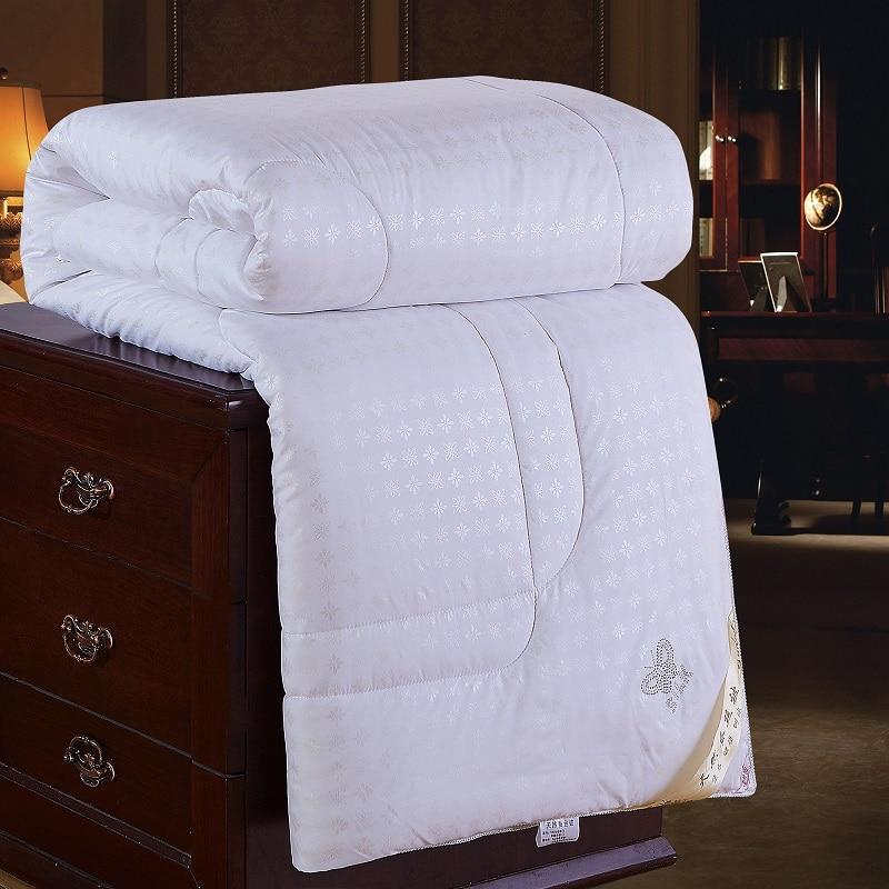 لحاف من الحرير الأبيض والوردي والبيج والتوت ، بطانية زنبركية مزدوجة مفردة ، لحاف شتوي مزدوج ، مقاس كوين كينج ، مخصص ، رقم 86