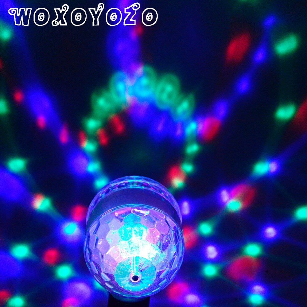 Led RGB Bulb Stage Light Party Dance E27 85-265V Lamps Christmas Lighting Colorful lamp Magic Auto Rotating DJ Disco KTV Bar