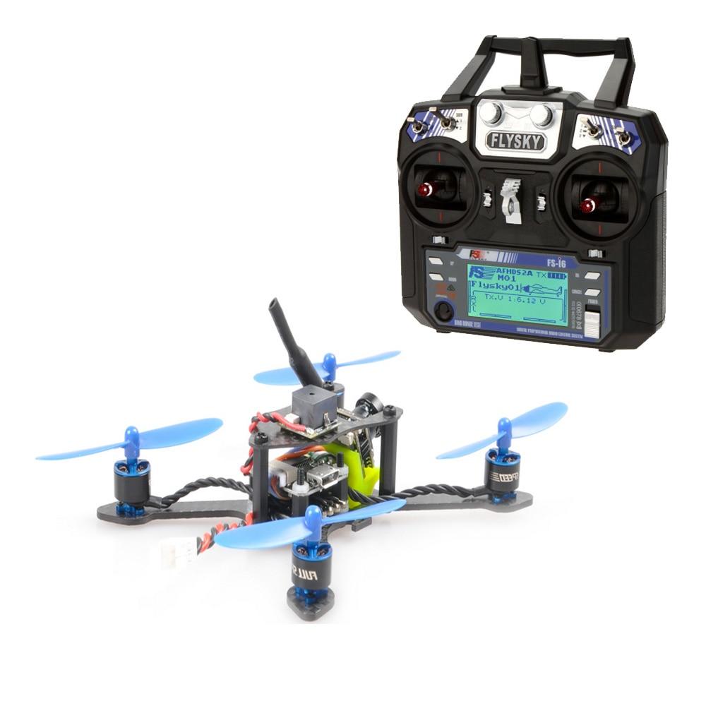 JMT bate-100 100MM de fibra de carbono DIY FPV Micro sin escobillas Quadcopter RTF con Flysky FSI6 Control remoto