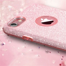 Capa de silicone para iphone, capa da moda com brilho de diamante e glitter, para iphone 8, 7, 6, 6s, plus, x xs 11 pro max xr capa feminina