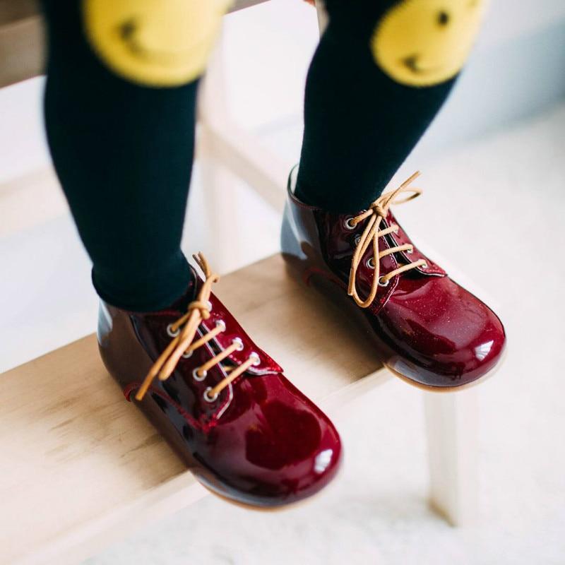 أزياء الاطفال اللباس الأحذية طفل جلد طبيعي أحذية الفتيات الأميرة الزفاف الأحذية الدانتيل متابعة الأطفال مدرسة البنين أحذية