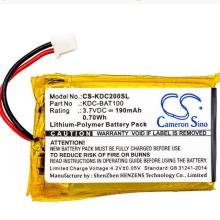 Cameron Sino 190mAh battery for KOAMTAC KDC-100 200 02-980-8680 KDC-BAT100 BarCode, Scanner Battery