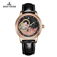 reef tigerrt luxury brand ladies designer watch men classic automatic watch sapphire crystal rose gold wrist watches rga1739