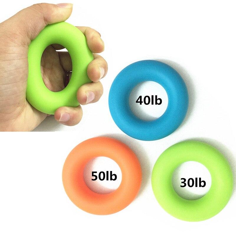 Agarre de mano dedo pow Trainer anillo de goma de silicona sólida mano expansor ejercitador dedos pinza powerball ejercitador de mano Grip