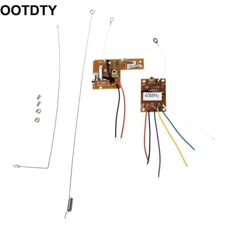 4CH 40 MHZ Transmissor Remoto & Placa do Receptor com Antena para RC DIY Carro Robô