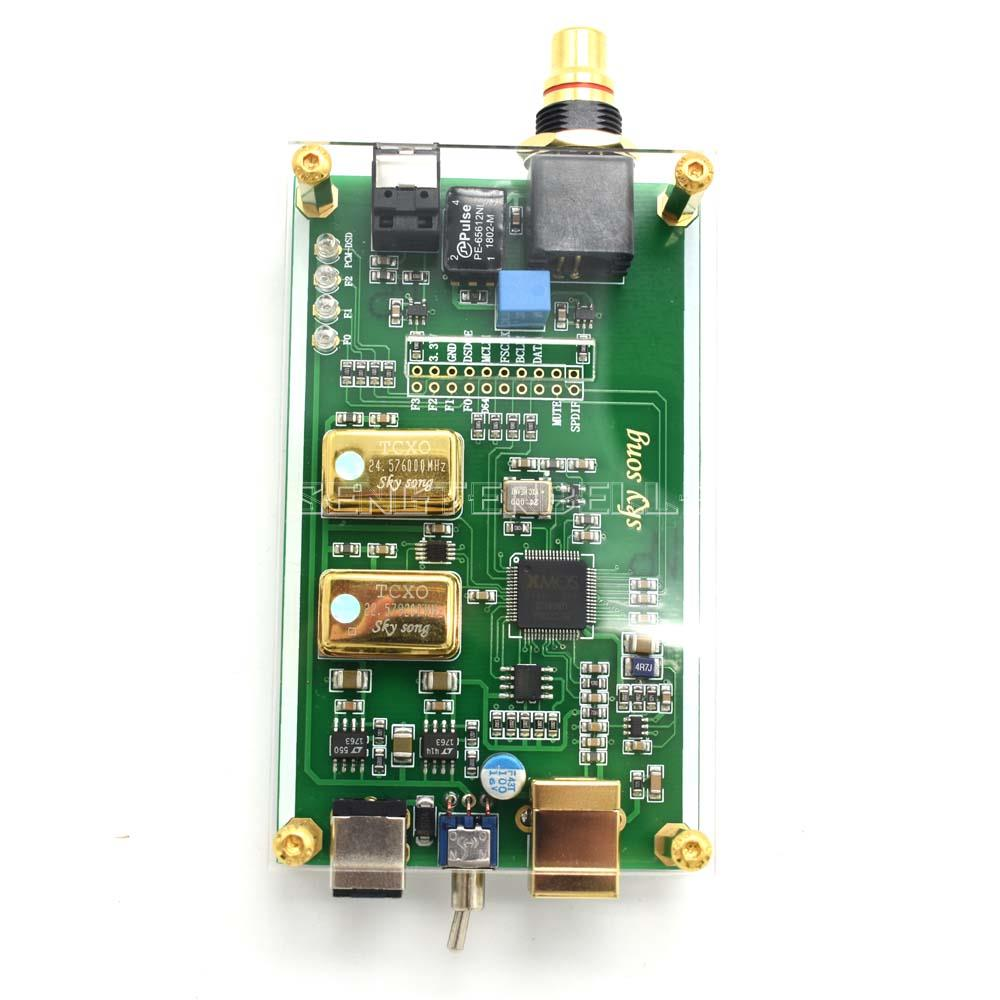 XMOS XU208 Asynchronous USB coaxial fiber output digital interface IIS DSD256 spdif dop64 with Acrylic sheet enlarge